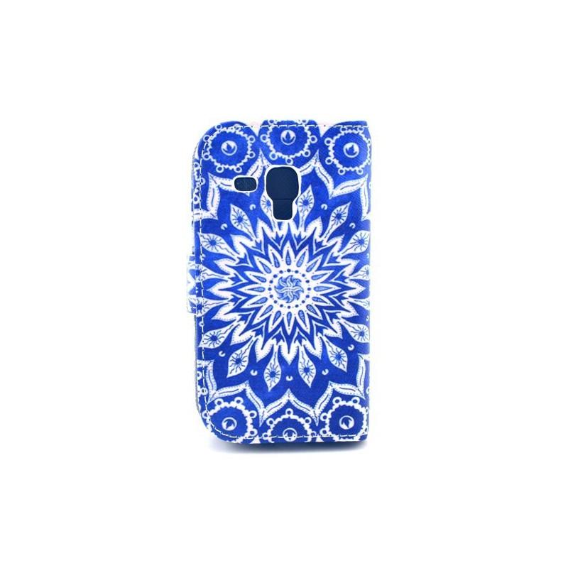 Galaxy Trend sininen mandalakukka lompakkokotelo