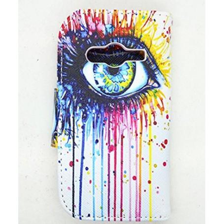 Galaxy Trend 2 värikäs silmä lompakkokotelo