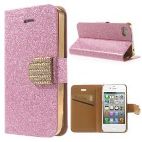 Iphone 4 pinkki glitter puhelinlompakko