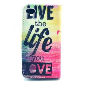 Iphone 4 live life puhelinlompakko