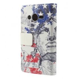 Samsung Galaxy trend 2 vapaudenpatsas puhelinlompakko