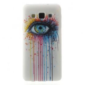 Galaxy A3 värikäs silmä silikonisuojus.