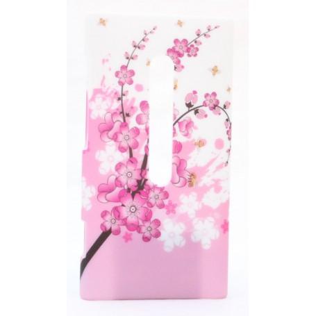 Lumia 800 suojakuori vaaleanpunainen kukka.