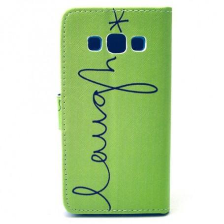Galaxy A3 vihreä kirjoitus puhelinlompakko
