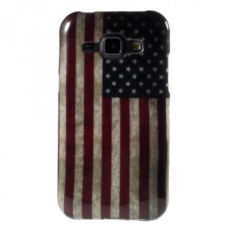 Galaxy J1 Yhdysvaltojen lippu silikonisuojus.