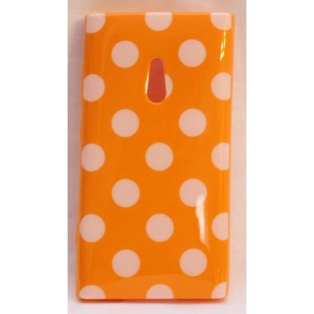 Lumia 800 polka dot suojakuori oranssi.