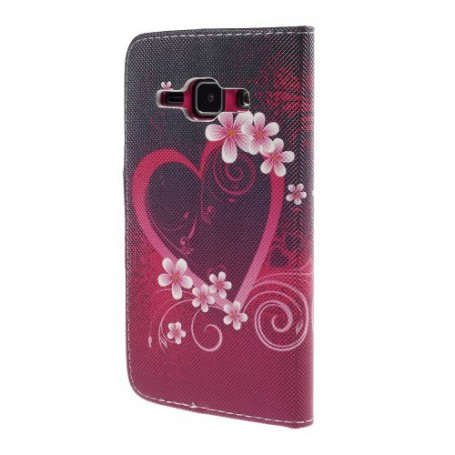 Galaxy J1 sydän puhelinlompakko