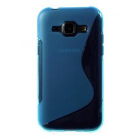Galaxy J1 sininen silikonisuojus.
