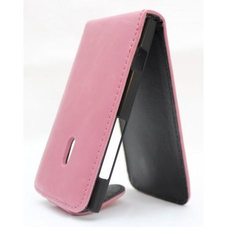 Lumia 800 vaaleanpunainen läppäkotelo.