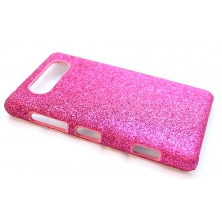 Lumia 820 hot pink glitter suojakuori.