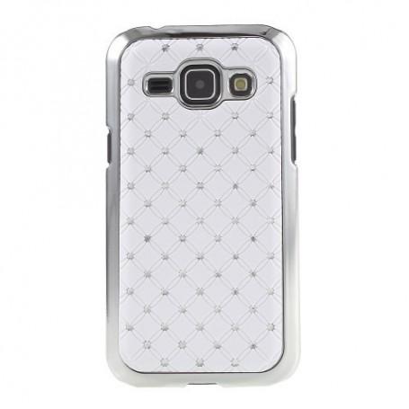 Galaxy J1 valkoiset luksus kuoret