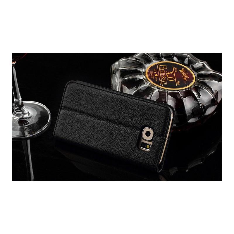 Galaxy S6 edge musta puhelinlompakko