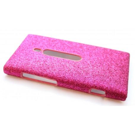 Lumia 800 hot pink glitter suojakuori.