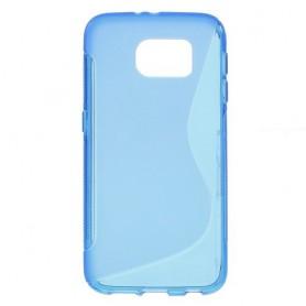 Galaxy S6 sininen silikonisuojus.
