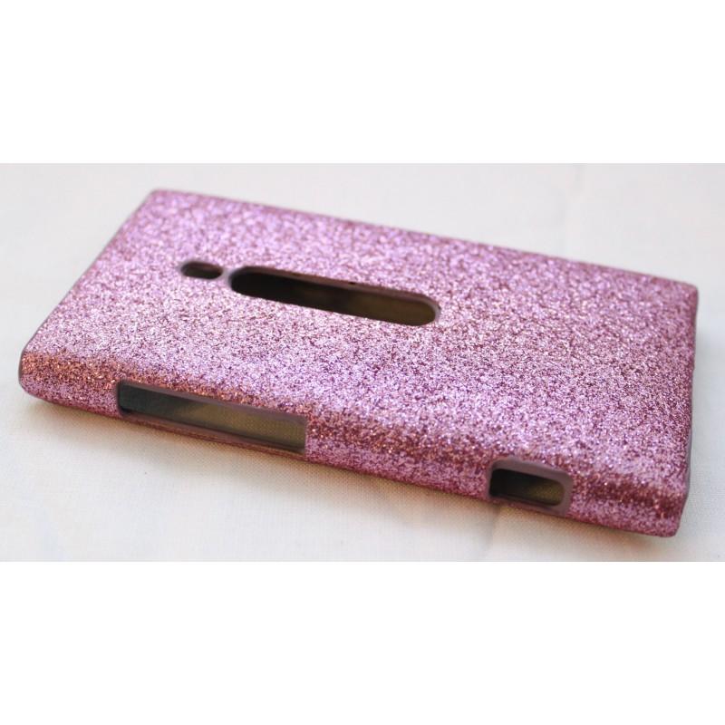 Lumia 800 pinkki glitter suojakuori.