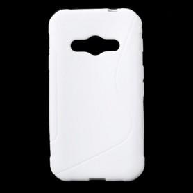 Galaxy Xcover 3 valkoinen silikonisuojus.