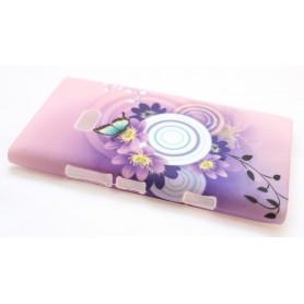 Lumia 900 suojakuori violetit kuviot