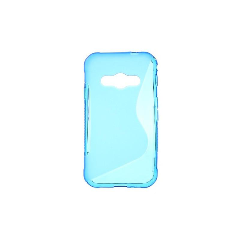 Galaxy Xcover 3 sininen silikonisuojus.