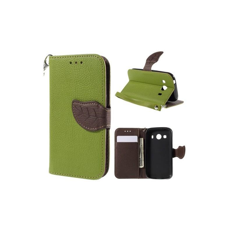 Galaxy Ace 4 vihreä puhelinlompakko