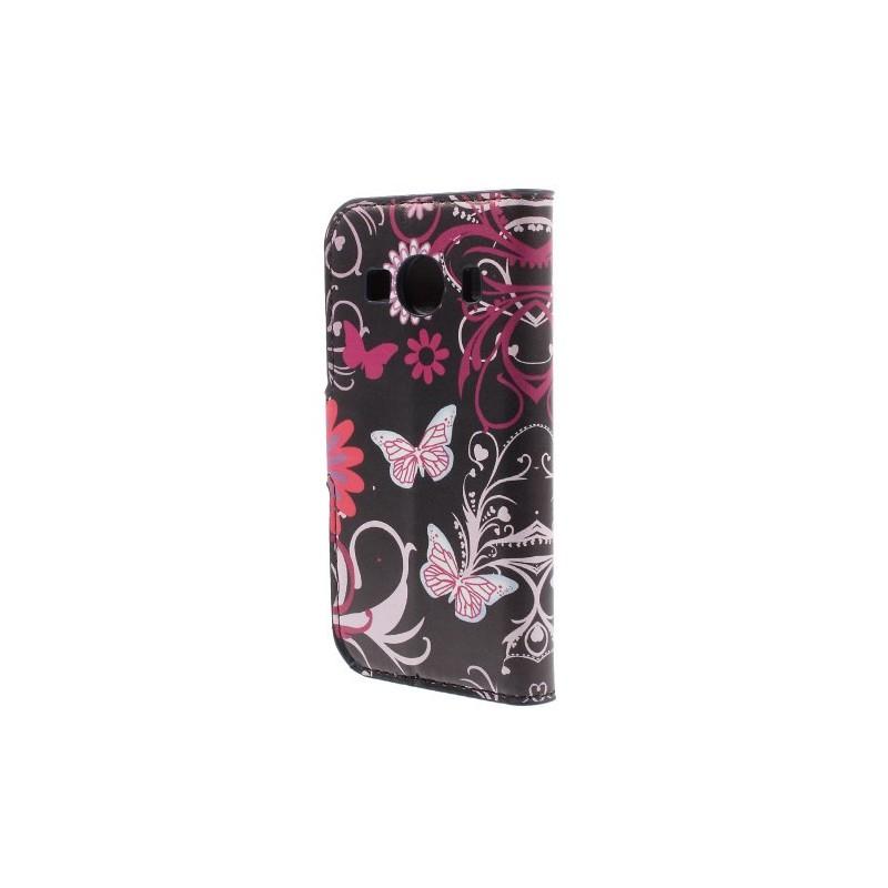 Galaxy Ace 4 kukkia ja perhosia puhelinlompakko
