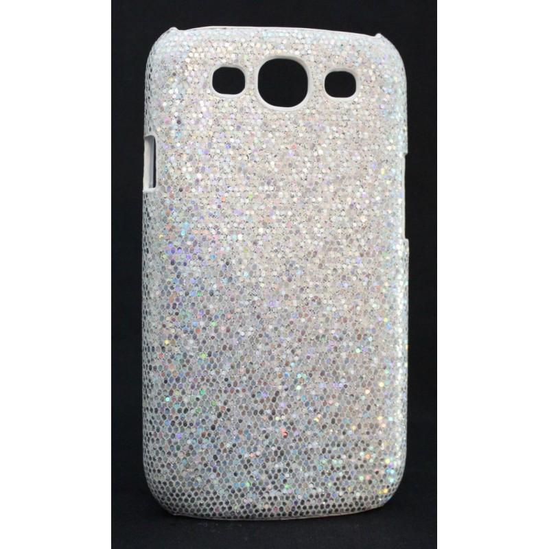 Galaxy S3 hopean värinen glitter suojakuori.