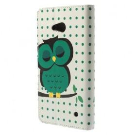 Lumia 640 vihreä pöllö puhelinlompakko
