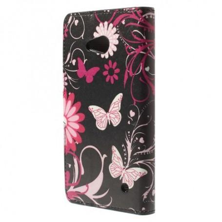 Lumia 640 kukkia ja perhosia puhelinlompakko