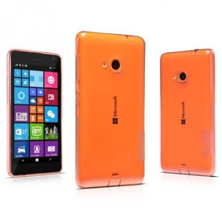 Lumia 535 ultra ohut läpinäkyvä silikonisuojus.