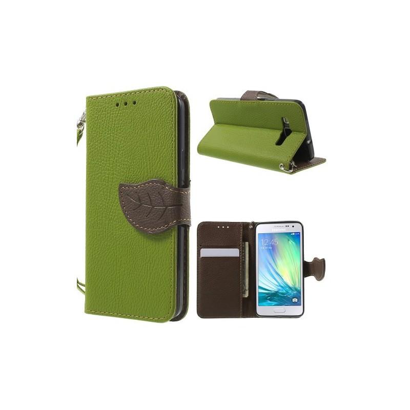 Galaxy A3 vihreä puhelinlompakko