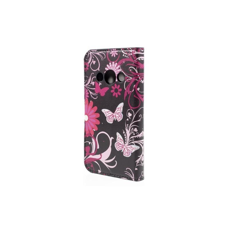 Galaxy Xcover 3 kukkia ja perhosia puhelinlompakko