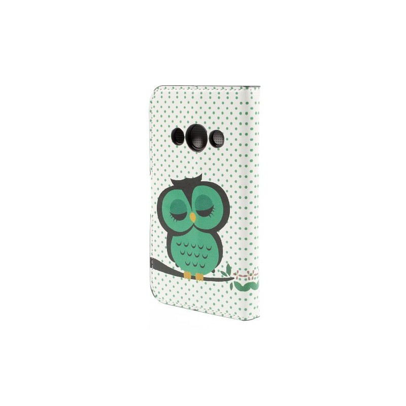 Galaxy Xcover 3 vihreä pöllö puhelinlompakko