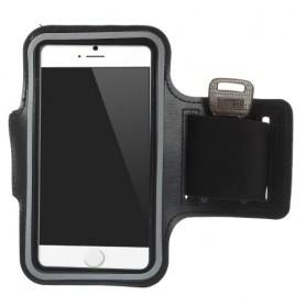 iPhone 6/6s/7/8/SE 2020 musta käsivarsikotelo.