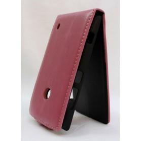 Lumia 520 vaaleanpunainen läppäkotelo.
