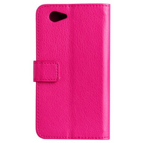 Xperia Z1 Compact hot pink puhelinlompakko