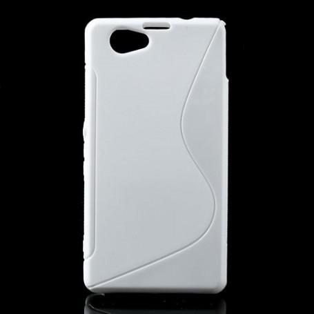 Sony Xperia Z1 Compact valkoinen silikonisuojus.