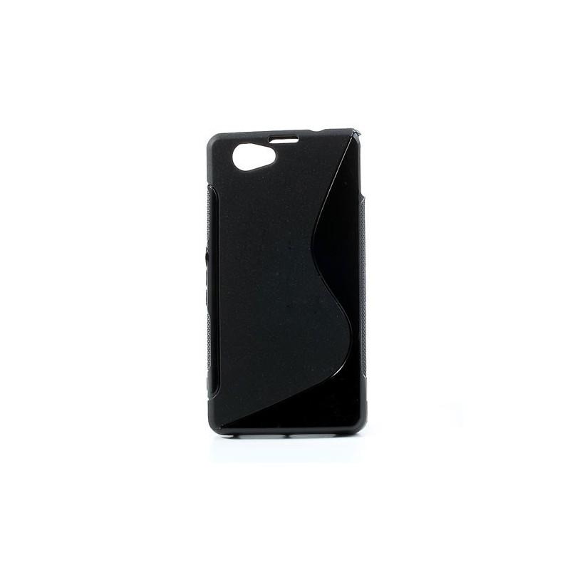 Sony Xperia Z1 Compact musta silikonisuojus.