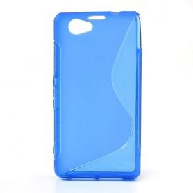 Sony Xperia Z1 Compact sininen silikonisuojus.