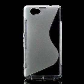 Sony Xperia Z1 Compact läpinäkyvä silikonisuojus.