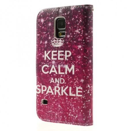 Samsung Galaxy S5 keep calm puhelinlompakko