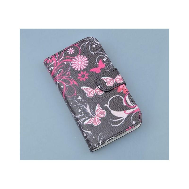 Lumia 720 kukkia ja perhosia puhelinlompakko
