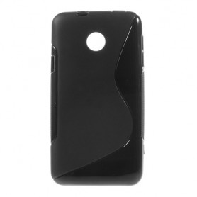 Huawei Ascend Y330 musta silikonisuojus.