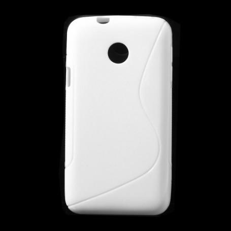 Huawei Ascend Y330 valkoinen silikonisuojus.