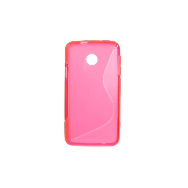 Huawei Ascend Y330 roosan punainen silikonisuojus.