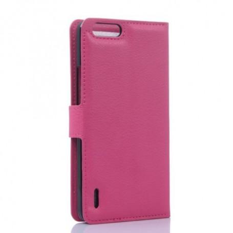 Huawei Honor 6 hot pink puhelinlompakko