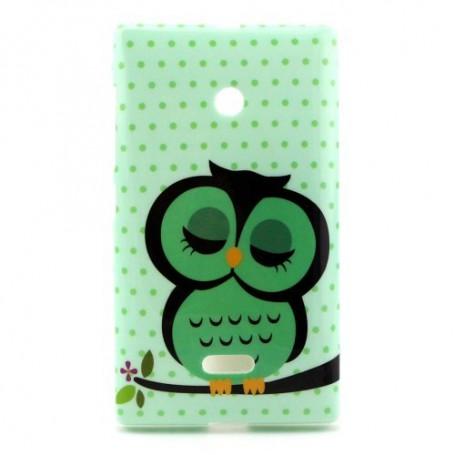 Lumia 435 vihreä pöllö silikonisuojus.