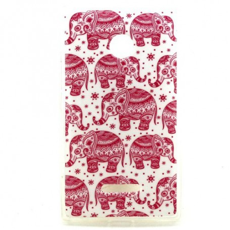 Lumia 435 pinkit elefantit silikonisuojus.
