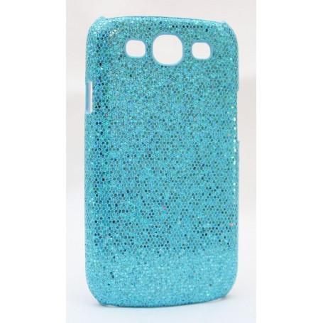 Galaxy S3 sinisen värinen glitter suojakuori.