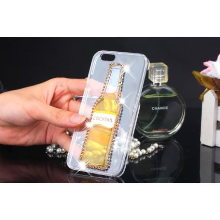 iPhone 6 keltainen cocktail pullo kuoret