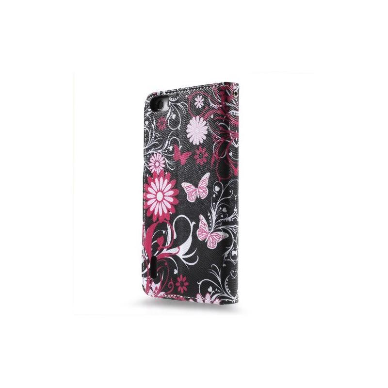 Huawei Honor 6 kukkia ja perhosia puhelinlompakko