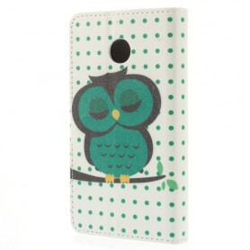 Huawei Ascend Y330 torkkuva pöllö puhelinlompakko